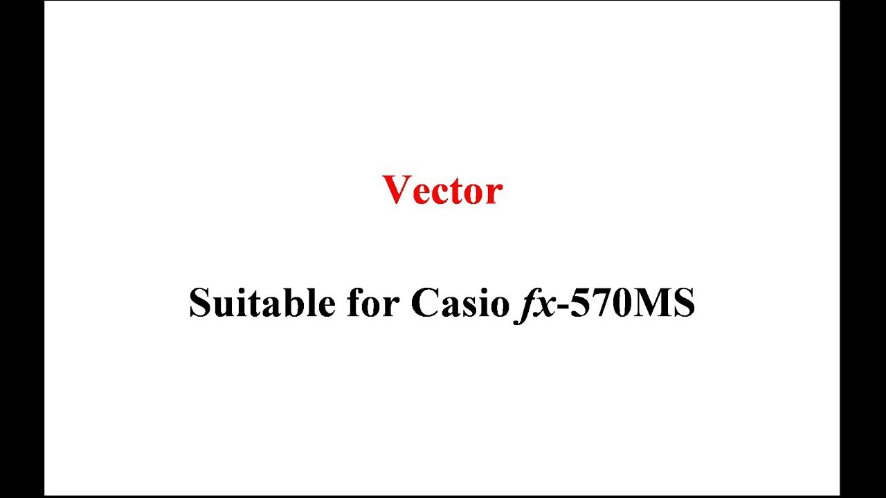 The Way To Find A Vector